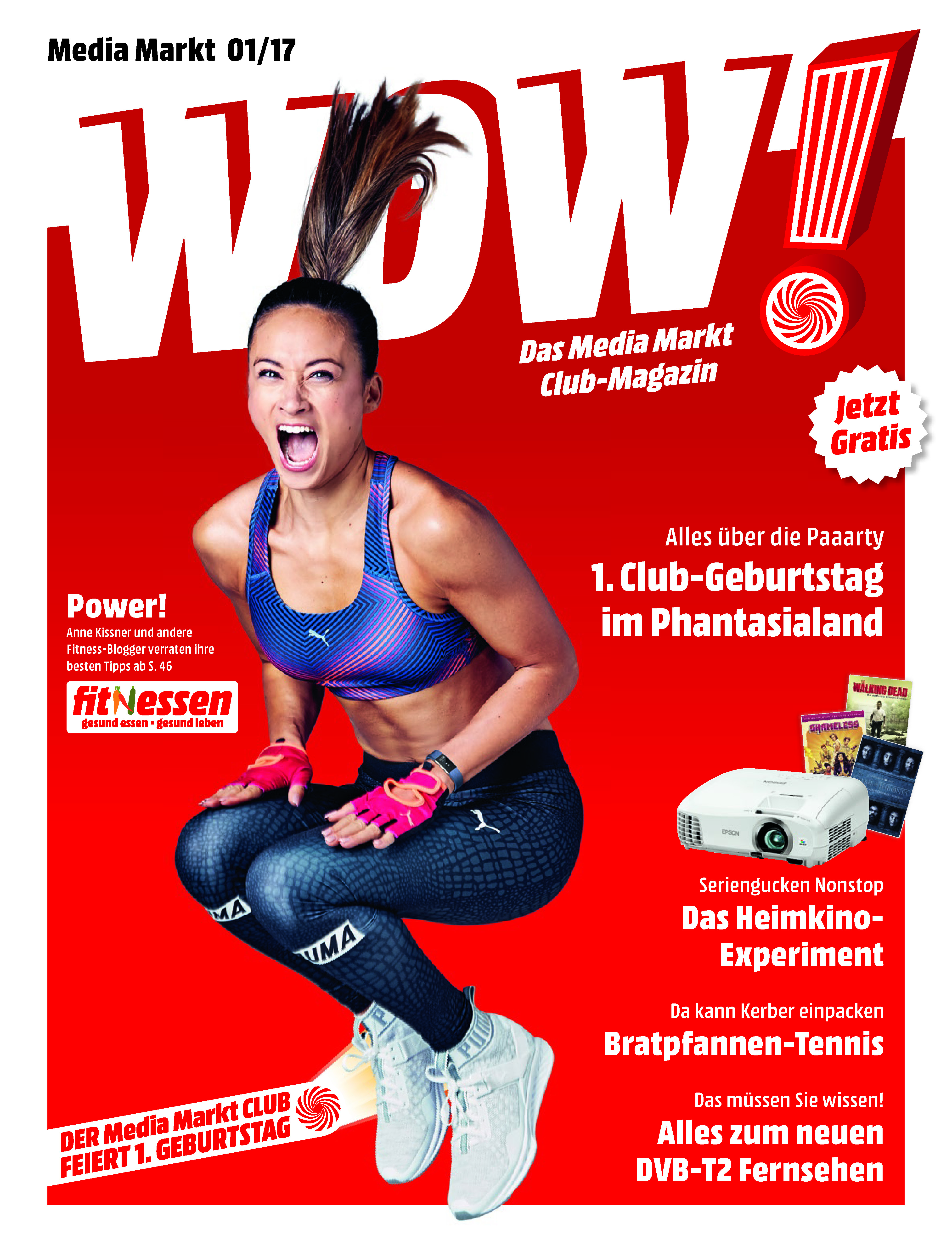 Mediamarkt Club Magazin Wow 12017 Mit Social Media Fitness Stars