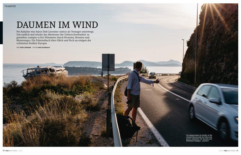 Daumen in Wind